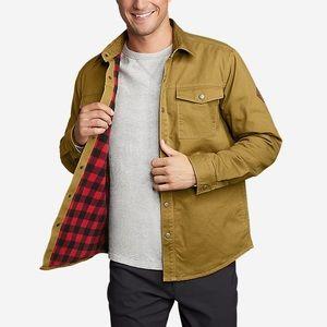 NWT Eddie Bauer Fleece Lined Shirt Jacket
